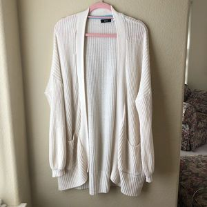 Urban Outfitters BDG Cream Oversized Cardigan